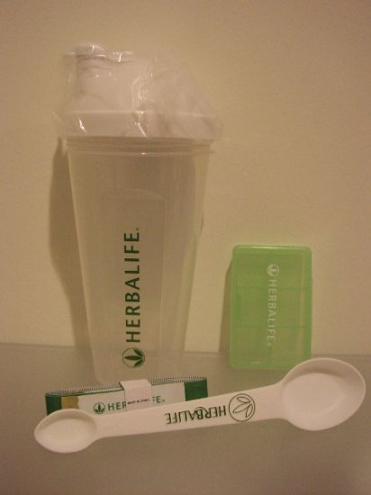 Herbalife screw shaker / spoon / measuring tape / small pill box