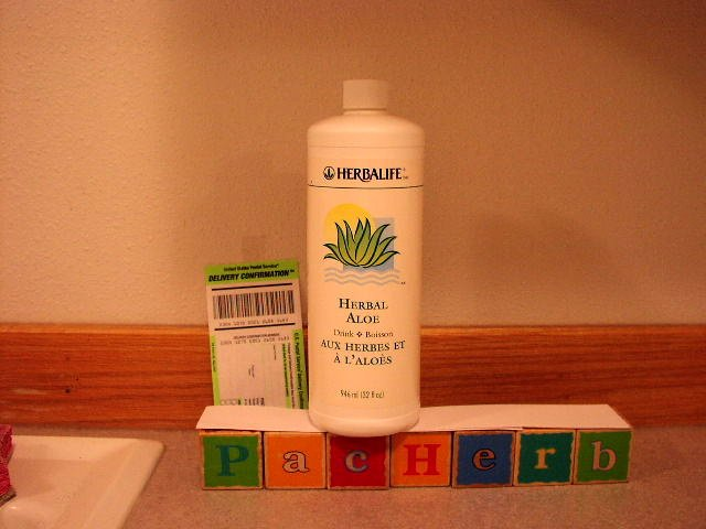 Herbalife Herbal Aloe Drink Gallon 128oz Quart x4 2007
