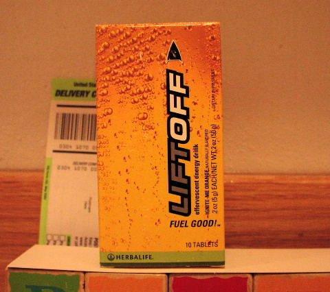 Herbalife LiftOff Lift Off Energy Drink Orange Ignite-Me x 8