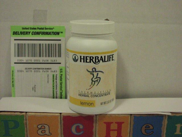 Herbalife Herbal Tea Concentrate 3.53oz 100g Lemon Thermojetics 2003