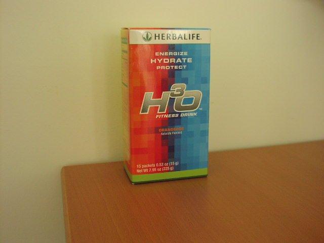 Herbalife H3O H30 Fitness Energy Drink Box Orangeade 15 packets Fresh 4/2014