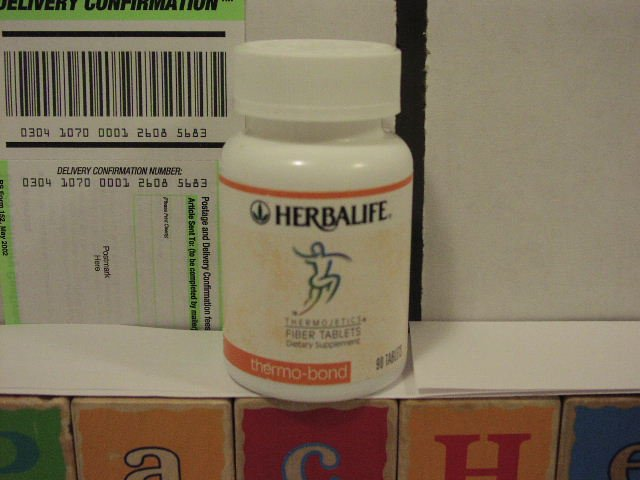 Herbalife Thermo-bond thermobond Thermojetics Fiber Tablets 2002