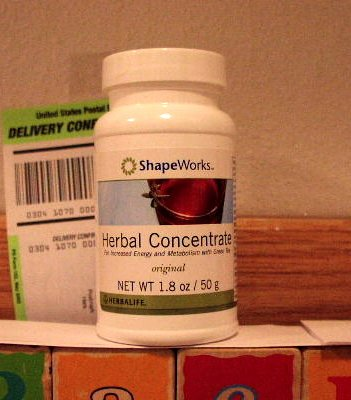 Herbalife Herbal Tea Concentrate 1.8oz 50g Original ShapeWorks 2009 x 9