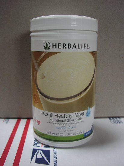 Herbalife F1 Instant Healthy Meal Shake Mix Cannister Vanilla Dream 624g Formula 1 ShapeWorks