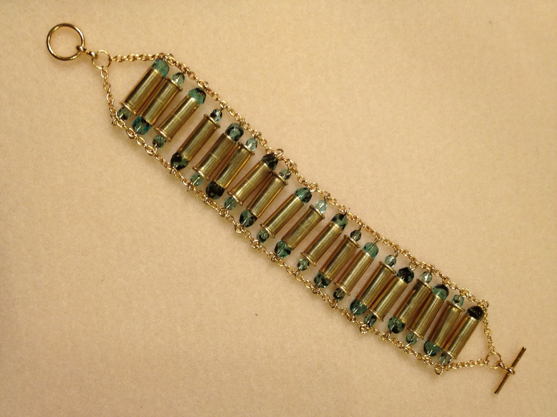 Bullet Casing Bracelet, .22 gauge shells