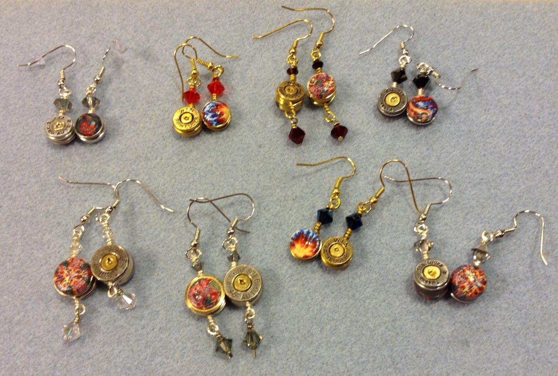 Bullet Shell Casing dangle earrings