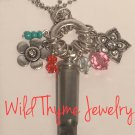 Funky Flower Bullet Casing Necklace