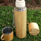 Stainless Steel Bamboo Vacuum Flask Bottle