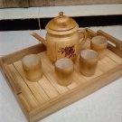 Teapot bamboo set 6 in 1