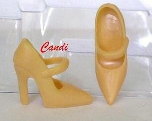 Doll Shoes by Candi BUTTERSCOTCH MARYJANE HIGH HEELS 11.5 to 12 inch fashion dolls