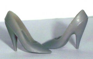 DOLL SHOES for 11.5 to 12 Inch dolls shoes GRAY HIGH HEEL PUMPS, Candi