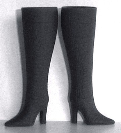 "Fashion Doll Boots for 11.5-12"" dolls CHARCOAL GRAY MATTE BLACK, Candi Brand"