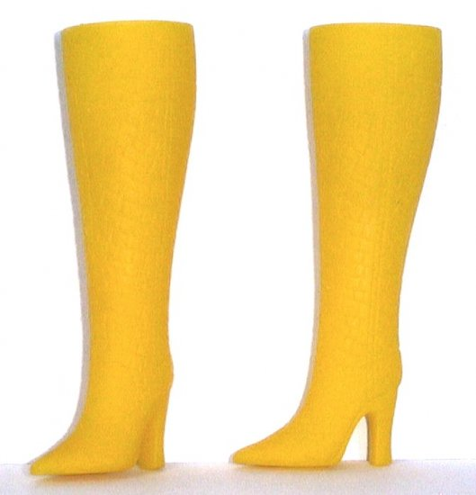"""Fashion Doll Boots for 11.5-12"""" dolls, GOLDEN YELLOW, Candi Brand"""