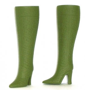 "Fashion Doll Boots for 11.5-12"" dolls OLIVE ARMY GREEN Candi Brand"