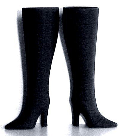 "Doll Boots for 11.5-12"" fashion dolls, BLACK, Candi Brand"
