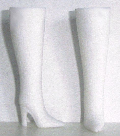 """Doll Boots for 11.5-12"""" fashion dolls, WHITE, Candi Brand"""