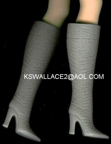 Doll Boots fit 11.5 to 12 Inch dolls GRAY Candi Brand