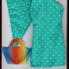 Doll Dress Set 11.5 to 12 inch Dolls HANDBAG SCARF SHOES