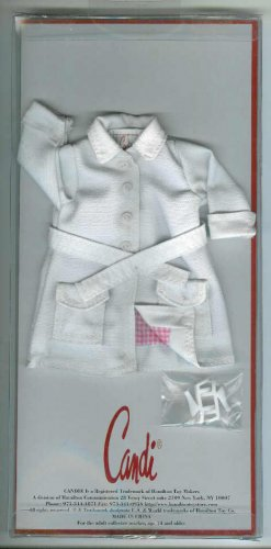 Doll Coat WHITE TRENCH 11.5 to 12 inch Fashion Dolls CANDI