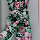 Doll Dress BLACK FLORAL Fits Ellowyne Tyler Gene NEW