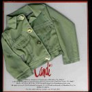 KHAKI Doll Jacket by CANDI 16 fits Ellowyne Tyler Gene NEW