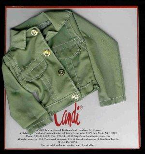 KHAKI Doll Jacket by CANDI 16 fits Ellowyne Tyler Gene NEW