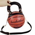 Basketball Shape Bags for Women Messenger Bag Luxury Handbags Round Creative Fun
