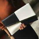 Women Clutch Bag Black & White Handbag Large Capacity Purse Envelope Bags Party