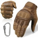 Leather Motorcycle Skidproof Hard Knuckle Full Finger Gloves Protective Gear