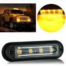LED Car Truck Emergency Light Waterproof DRL Warning Flash Strobe Amber Lamp