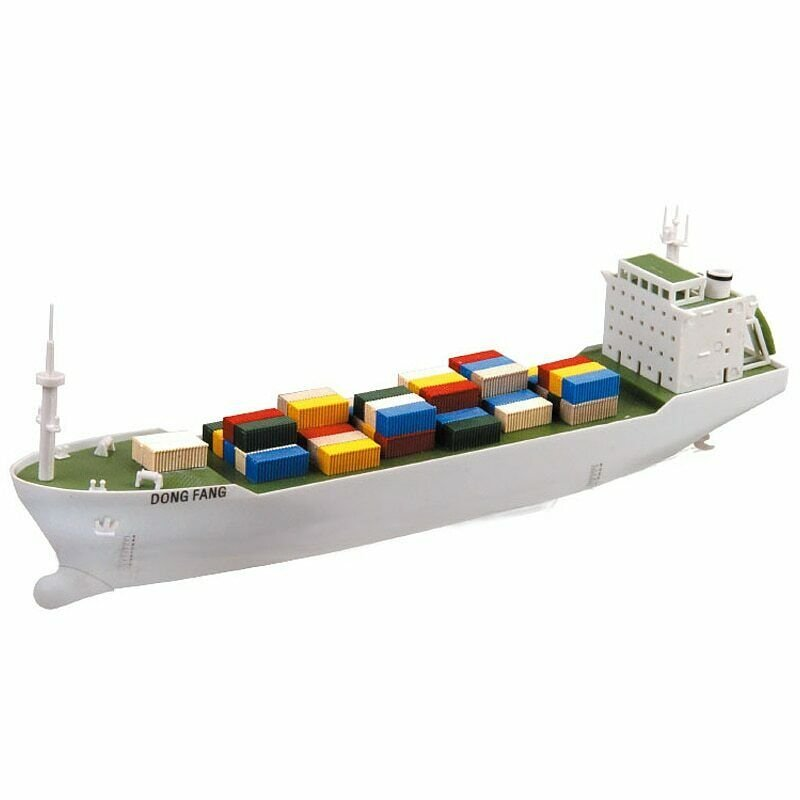 DIY Container Ship Electric Power Vessel Model BOAT Remote Control Water Surface