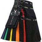 RAINBOW COTTON KILT