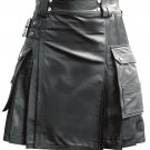 Royal-REAL LEATHER KILT