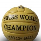 SWISS WORLD CHAMPION MATCH BALL | CLASSIC SOCCER | ANTIQUE LEATHER BALL | WC1954