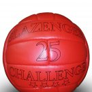 SLAZENGER 25 CHALLENGE MATCH BALL | RED CLASSIC LEATHER SOCCER BALL | WC 1966