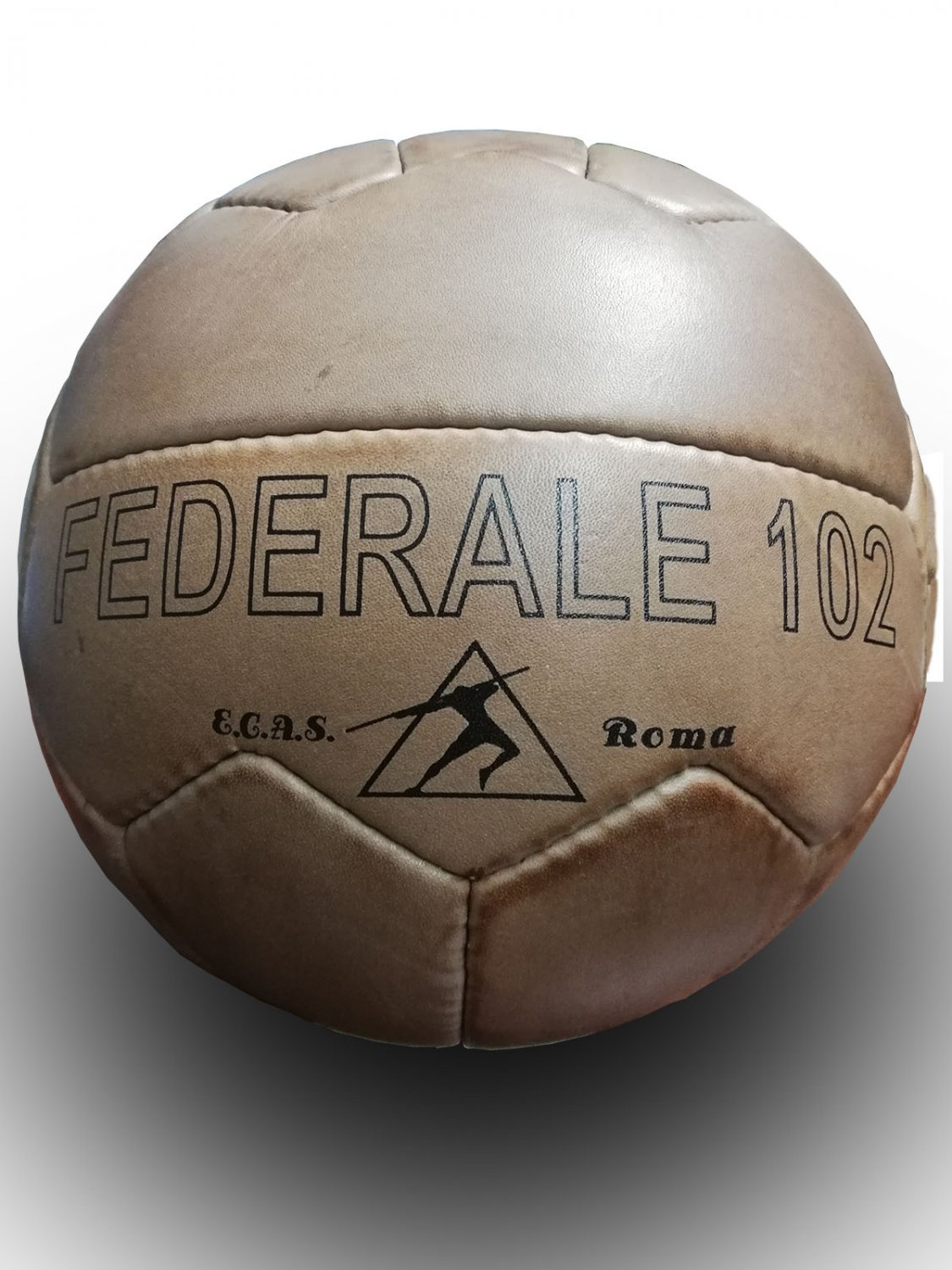 FEDERALE 102 ROMA   VINTAGE CLASSIC SOCCER   ANTIQUE LEATHER FOOTBALL   NO. 5