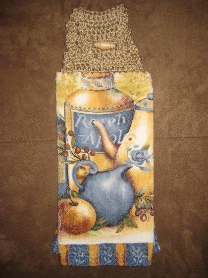 Crochet Top Tea-pot Towel