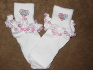 Heart Beaded Sock