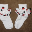 Cherry Beaded Sock