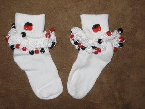 Cherry Beaded Sock