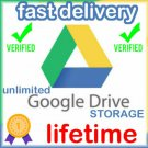 Gsuite Google Drive Unlimited Google Photos, Cloud, YOUR USERNAME +Lifetime