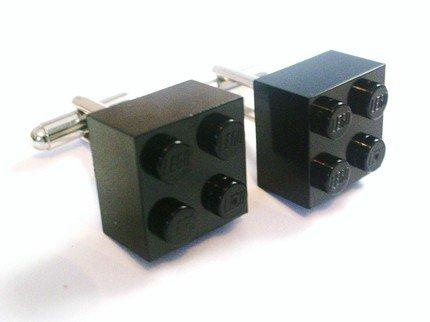 Black Lego Cufflinks