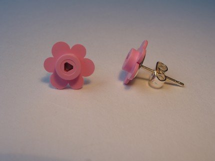 Lego Flower Earrings
