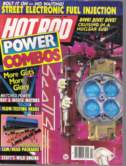 HOT ROD  FEBRUARY 1989 back issue