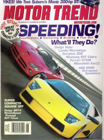 MOTOR TREND.. JUNE 2003 ISSUE