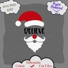 Santa 2020 svg, funny Christmas svg, Believe Svg, Santa Face Svg, Kids Christmas Svg, Santa Beard
