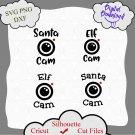 Santa Cam bundle, Santa Cam Svg, Elf Cam Svg, Christmas Svg, Elf Watch Svg, Santa's Naughty Svg