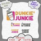 Dunkie Junkie SVG, Halloween svg, Dunkin Donuts Svg, Cute Svg, Dunkie Junkie PNG, Cricut