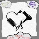 Hair Dresser Heart made of tools cricut, Hairstylist gift svg, Salon svg, hairstylist appreciation