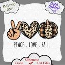 Peace love fall svg, pumpkin svg, fall svg, fall pumpkin svg, peace svg, cheetah print pumpkin svg